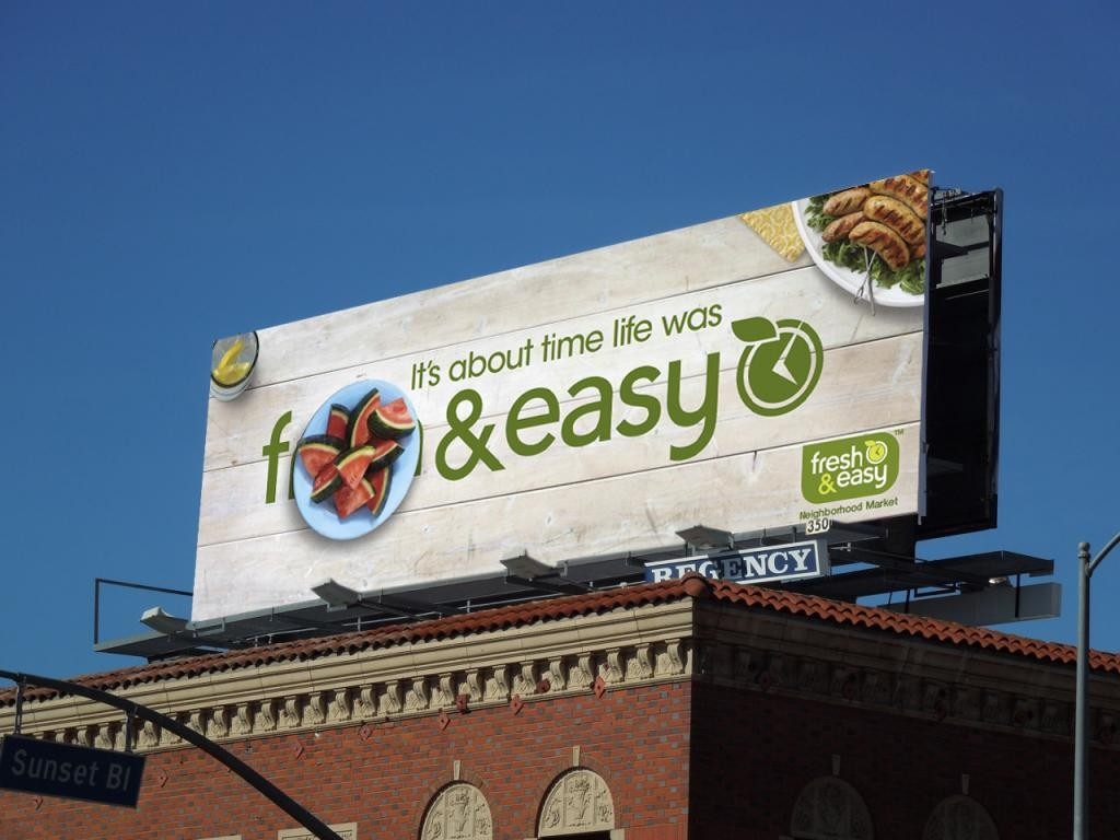 Fresh and Easy F&Easy Billboard