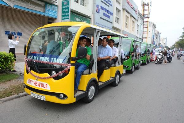 Tuyến xe buýt điện ở khu vực Phú Mỹ Hưng, quận 7