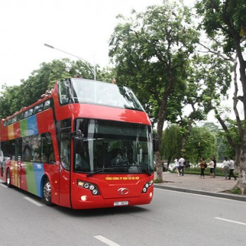 Xe bus 2 tầng đã được triển khai tại Hà Nội vào cuối tháng 6 vừa qua