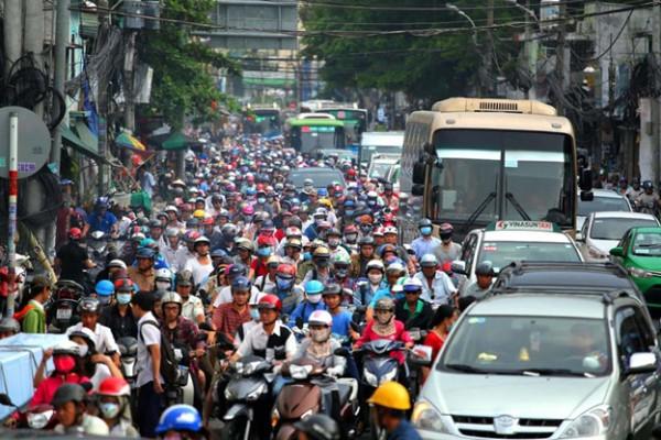 Xe máy đang chiếm hơn 80% tổng lượng giao thông mỗi ngày ở TP.HCM