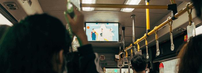 các hình thức quảng cáo trên xe bus