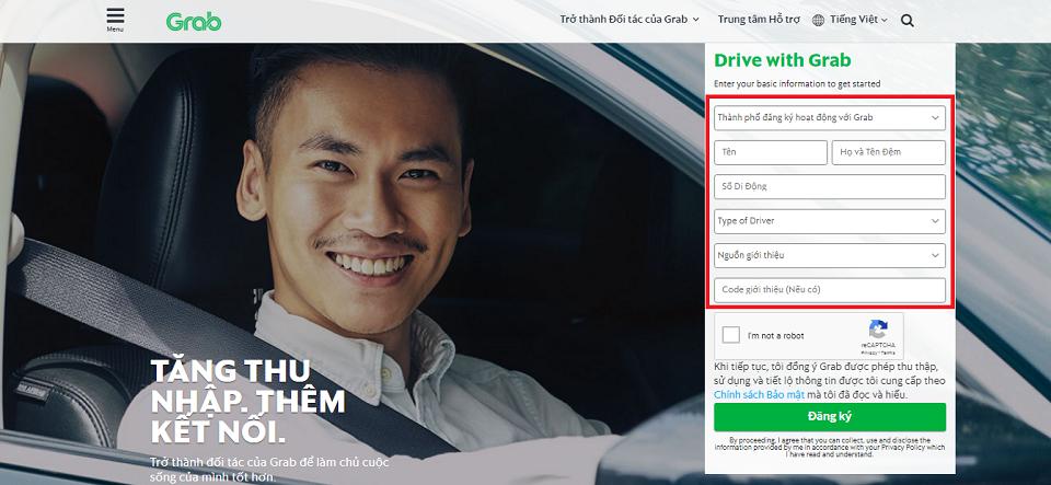 Hướng dẫn chi tiết về hồ sơ và cách đăng ký GrabCar