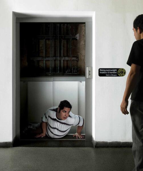 quảng cáo thang máy sáng tạo