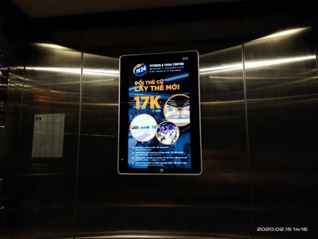 quảng cáo frame trong thang máy