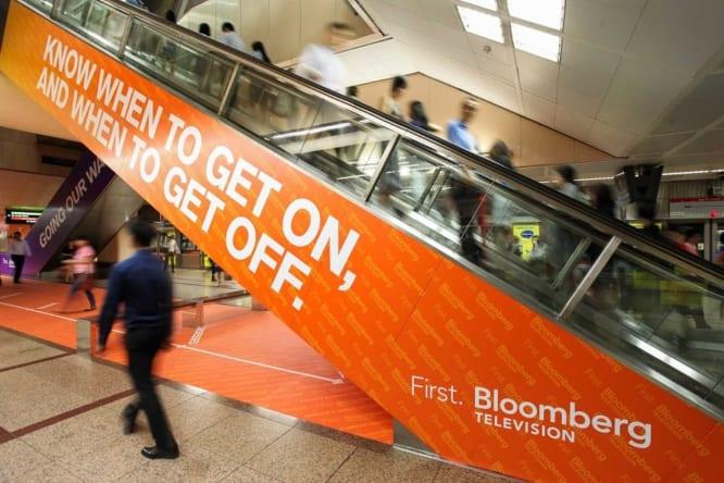 quảng cáo trên thang cuốn