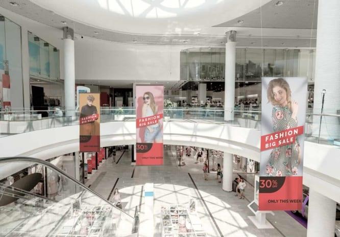 Đặt quảng cáo trong trung tâm thương mại